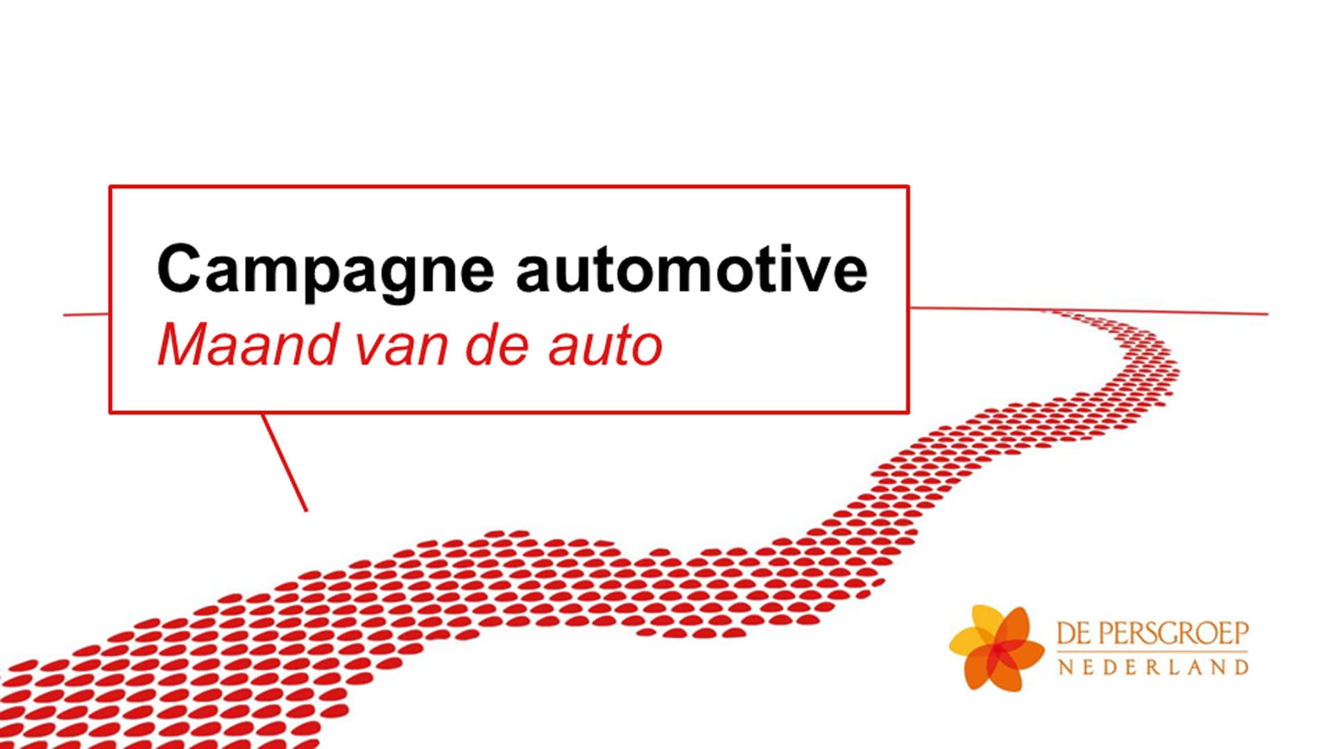 PowerPoint presentatie Automotive campagne.